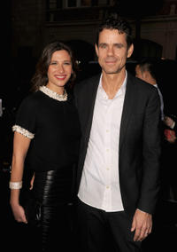 Marie Steinmann and Tom Tykwer at the California premiere of