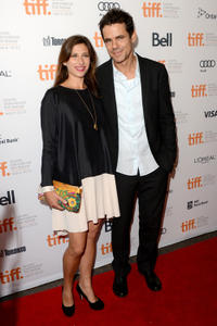 Marie Steinmann and Tom Tykwer at the premiere of
