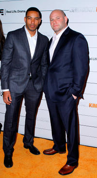 Laz Alonso and Domenick Lombardozzi at the New York premiere of
