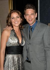 Marika Dominczyk and Dougray Scott at the premiere party of