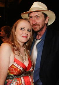 Kimbery Cox and Frank Miller at the premiere of
