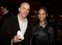 Neal H. Moritz and Zoe Saldana at the after party of