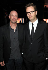 Director Troy Nixey and Nicolas Winding Refn at the Film District party during the Comic-Con 2011 in California.