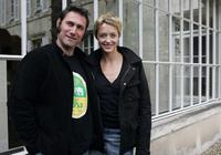Sergi Lopez and Helene de Fougerolles at the 23rd Edition of Cognac thriller film festival.