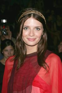 Mischa Barton at the Marc Jacobs Fashion Show during the Mercedes-Benz Fashion Week Spring 2008.