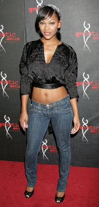 Meagan Good at the Genetic Denims one-year anniversary.