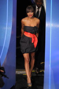 Meagan Good at the BET's 106 and Park.