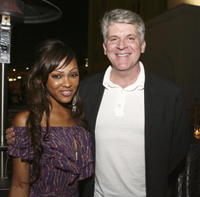 Meagan Good and John Lyons at the after party of the premiere of