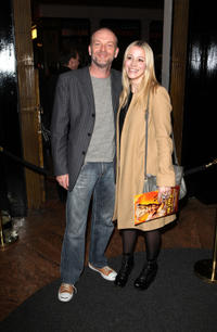 Hugo Speer and Guest at the press night of