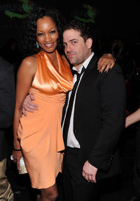 Garcelle Beauvais and Brett Ratner at the HELP HAITI benefiting The Ben Stiller Foundation and The J/P Haitian Relief Organization in New York.
