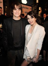 Johnny Simmons and Emma Roberts at the premiere of