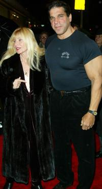 Lou Ferrigno and guest at the 25th anniversary celebration of the film
