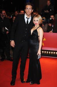 Ryan Reynolds and Hayden Panettiere at the premiere of