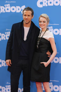 Ryan Reynolds and Emma Stone at the New York premiere of