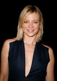 Amy Smart at the Cynthia Rowley Fall 2008 fashion show during the Mercedes-Benz Fashion Week Fall 2008.