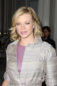 Amy Smart at the J Mendel Fall 2008 fashion show during the Mercedes-Benz Fashion Week Fall 2008.