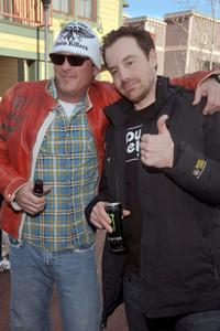 Michael Madsen and Joshua Peace at the 2009 Sundance Film Festival.