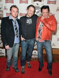 Simon Ennis, Joshua Peace and Michael Madsen at the premiere of
