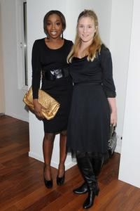 Estelle and Natacha Regnier at the Terry Richardson's exhibition opening of Vogue Calendar.