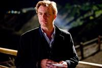 Director Christopher Nolan on the set of