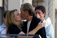 Bridget Fonda and her father Peter Fonda at the ceremony honoring him with a star on the Hollywood Walk of Fame.