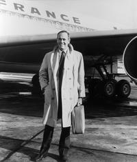 Henry Fonda at the Orly Airport in Paris.