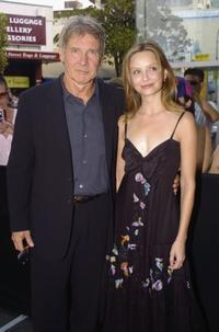 Harrison Ford and Calista Flockhart at the Sydney press conference of