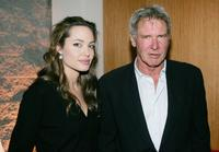 Angelina Jolie and Harrison Ford at the Los Angeles premiere of