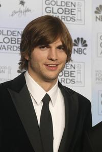 Ashton Kutcher at the 61st Golden Globe awards.