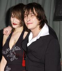 Edward Furlong and Guest at the premiere of