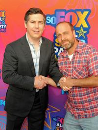 Chris Parnell and Jon Benjamin at the FOX 2010 summer Television Critics Association all-star party.