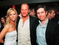 Cheryl Hines, Woody Harrelson and Chris Parnell at the after party of the premiere of