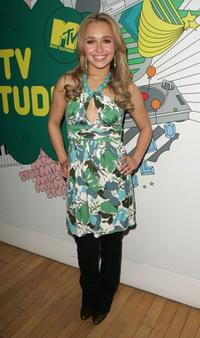 Hayden Panettiere at the MTV's Total Request Live.