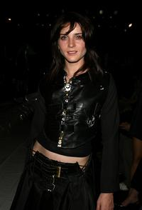 Michele Hicks at the Johnnie Walker Dressed to Kilt 2006 fashion show during the Mercedes Benz Fashion Week.