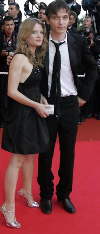 Melanie Thierry and Raphael at the screening of