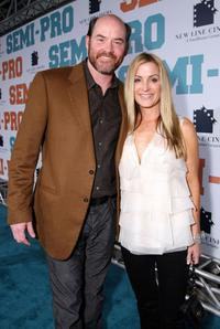 David Koechner and his wife Leigh at the New Line premiere of