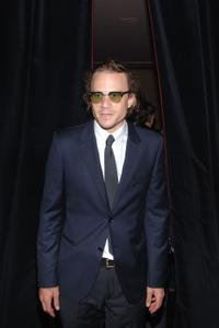 Heath Ledger at the Calvin Klein After Party during the Mercedes-Benz Fashion Week Spring 2008 in N.Y.
