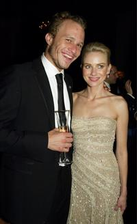 Heath Ledger and Naomi Watts at the Governors Ball during the 76th Annual Academy Awards.