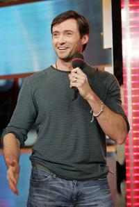 Hugh Jackman at MTV's Total Request Live.