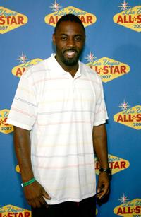 Idris Elba at the 2007 NBA All-Star Game Celebrity Arrivals.