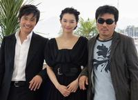 Lee Byung-hun, Min-a Shin and Director Kim Jee-Woon at the photocall of