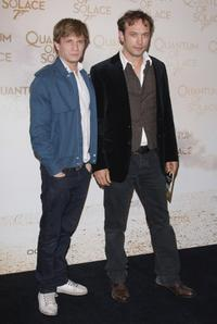 Jeremie Renier and Vincent Perez at the Paris premiere of