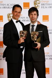 Diarmid Scrimshaw and Paddy Considine at the Orange British Academy Film Awards.
