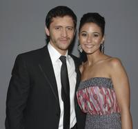 Clifton Collins Jr. and Emmanuelle Chriqui at the 12th Annual Screen Actors Guild Awards.