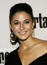 Emmanuelle Chriqui at the Entertainment Weekly/ Endeavor party.
