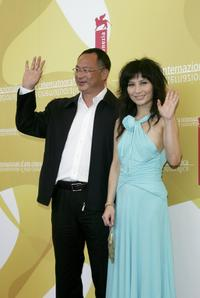 Director Johnnie To and Josie Ho at the photocall of