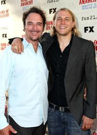 Kim Coates and Charlie Hunnam at the series premiere screening of