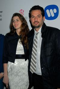 Guy Oseary and Guest at the Warner Music Group's 2007 Grammy Party.