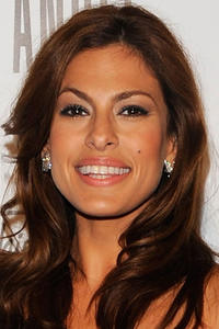Eva Mendes at a campaign for Angel by Thierry Mugler in New York.