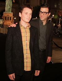 Anton Yelchin and Zachary Quinto at the premiere of